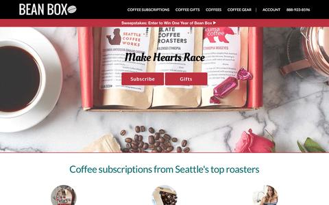 Screenshot of Home Page beanbox.co - Gourmet Coffee Subscriptions and Gifts | Bean Box - captured Jan. 29, 2017