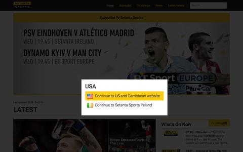 Screenshot of Home Page setanta.com - Join Setanta Sports | 6 channels in one package - captured Feb. 24, 2016