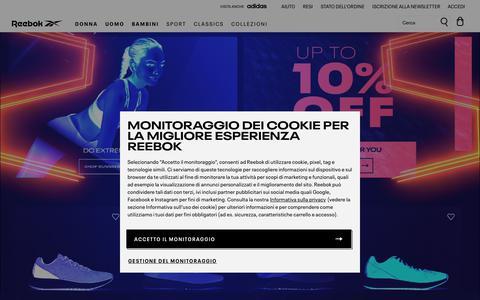 Screenshot of Home Page reebok.it - Reebok Online Store | Reebok® Italia - captured Feb. 18, 2020