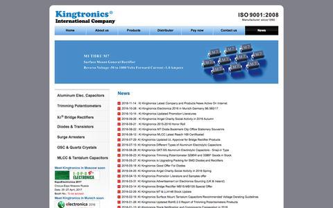 Screenshot of Press Page kingtronics.com - News - Kingtronics - captured Nov. 27, 2016