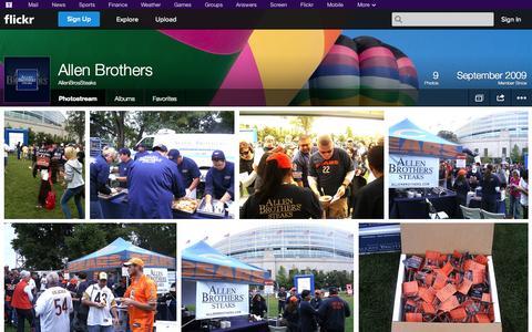 Screenshot of Flickr Page flickr.com - Flickr: AllenBrosSteaks' Photostream - captured Oct. 22, 2014