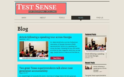 Screenshot of Blog testsense.com - testsense | BLOG - captured Nov. 8, 2017