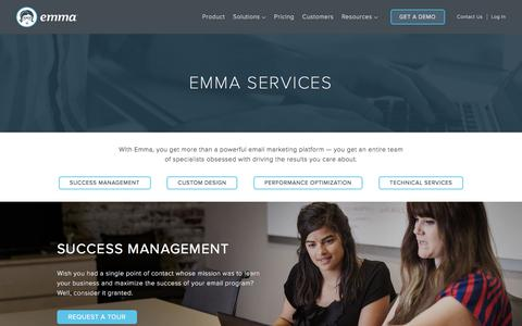 Screenshot of Services Page myemma.com - Email Marketing Services | Emma Email Marketing - captured June 16, 2017