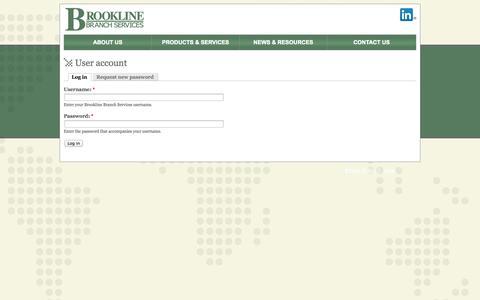 Screenshot of Login Page brooklinebranch.com - User account   Brookline Branch Services - captured Oct. 5, 2014