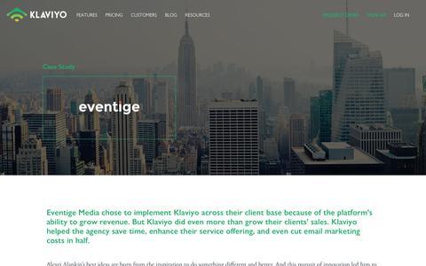 Screenshot of Case Studies Page klaviyo.com - Agency Case Study: Klaviyo Helps Eventige Cut Costs & Grow Client Revenue - Klaviyo - captured Jan. 8, 2019