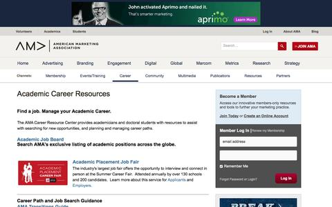 Academic Career Resources