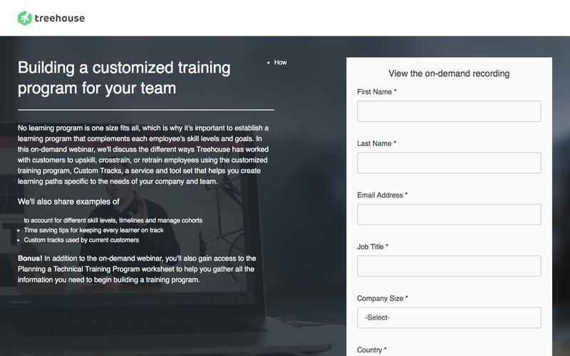 Webinar 3: Building a Customized Training Program for Your Team   Treehouse