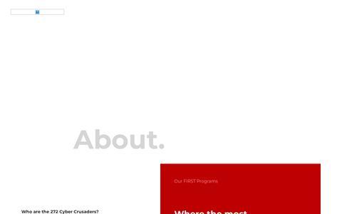 Screenshot of Home Page frc272.com - Blank Title - Home - captured April 25, 2018