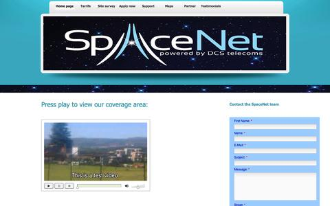 Screenshot of Maps & Directions Page spacenet.co.za - SpaceNet - captured Oct. 9, 2014