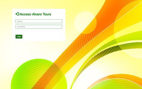 Screenshot of Login Page alvarotours.com - Login - captured Nov. 6, 2018