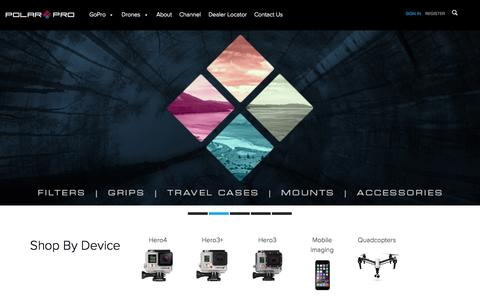 Screenshot of Home Page polarprofilters.com - GoPro Accessories | Filters, Poles, Microphones, Mounts & Cases - captured Oct. 1, 2015