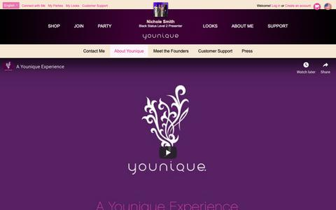 Screenshot of About Page youniqueproducts.com - About Younique - captured Oct. 19, 2018