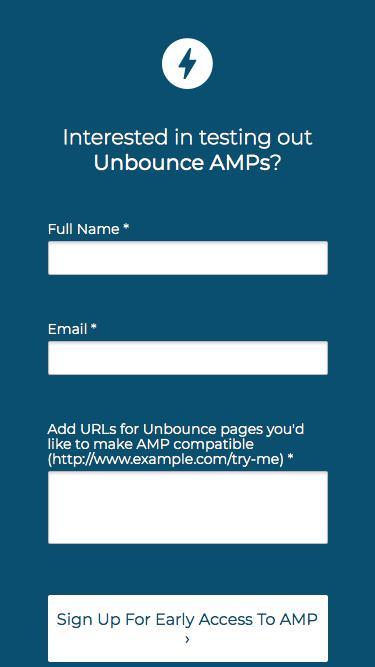 Unbounce Beta - AMP
