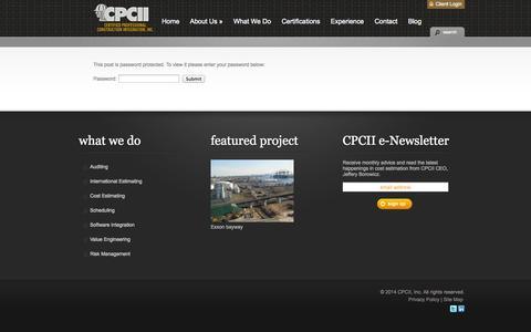 Screenshot of Login Page cpcii.com - Client Login | CPCII - captured Sept. 26, 2014