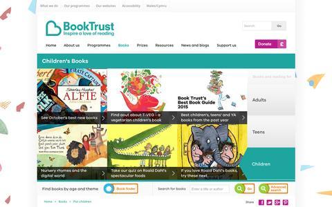 Screenshot of booktrust.org.uk - Children's Books | Book Trust - captured Oct. 2, 2015