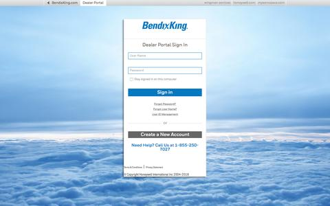 Screenshot of Login Page bendixking.com - Login - BendixKing - captured Aug. 1, 2018