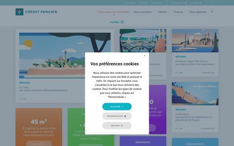 Screenshot of Home Page creditfoncier.com - Accueil - Crédit Foncier - captured Nov. 11, 2018