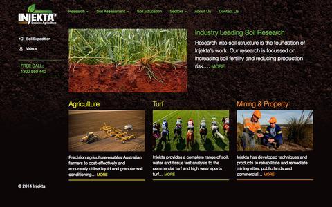 Screenshot of Home Page injekta.com.au - Injekta - captured Oct. 6, 2014