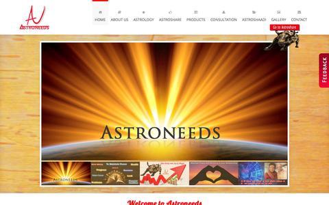 Screenshot of Home Page astroneeds.com - Best Astrologer in Pune   Nepali Rudraksha  Astrological Solutions in Pune  Astrological Products in Pune - captured June 22, 2015