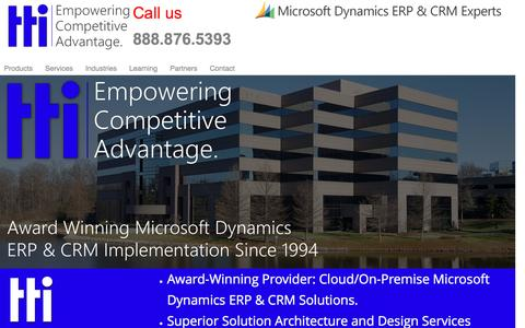 Screenshot of Home Page turnkeytec.com - Best CRM & ERP Implementation   Microsoft Dynamics CRM, GP & AX - captured Feb. 16, 2016