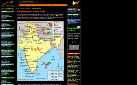 Screenshot of Maps & Directions Page neoncarrot.co.uk - Travel map of India | neoncarrot travelog - captured June 11, 2016