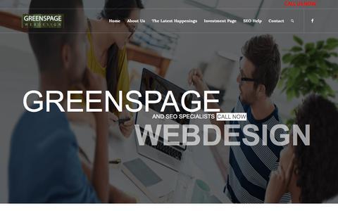 Screenshot of Home Page greenspage.com - Home - Knoxville TN SEO | Greenspage Web Design - captured July 25, 2018