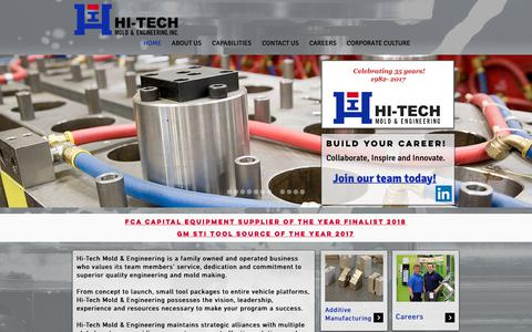 Screenshot of Home Page hitechmold.com - Hi-Tech Mold & Engineering, Inc | Plastic Injection Molding Michigan - captured Sept. 28, 2018