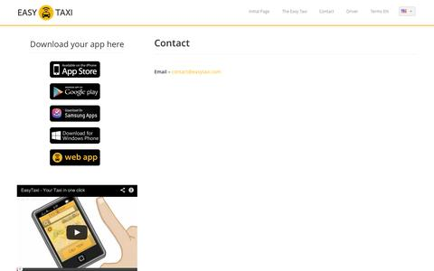 Screenshot of Contact Page easytaxi.com - Easy Taxi | Contact - captured Sept. 16, 2014