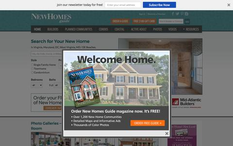 Screenshot of Home Page newhomesguide.com - New Homes For Sale In VA, MD, WV, DC & PA – New Homes Guide - captured Oct. 31, 2017