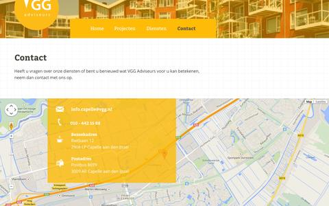 Screenshot of Contact Page vgg.nl - VGG Adviseurs Contact - VGG Adviseurs - captured Oct. 7, 2014