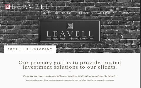 Screenshot of About Page leavellinvestments.com - ABOUT THE COMPANY | Leavell Investment Management - captured Nov. 5, 2016