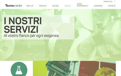Screenshot of Services Page tecnocarta.net - Tecnocarta - captured Feb. 28, 2016