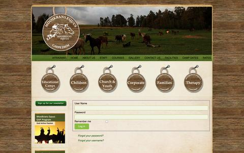 Screenshot of Login Page mooikrans.co.za - Mooikrans Equus - Mooikrans Equus - captured Oct. 9, 2014