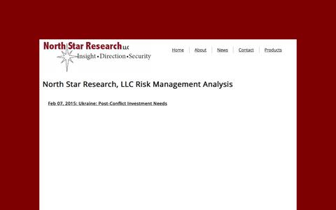Screenshot of Products Page north-star-research.com - North Star Research, Llc - Risk Management Analysis - captured Jan. 23, 2016