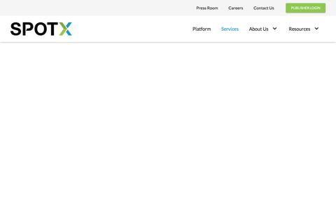 Screenshot of Services Page spotx.tv - SpotX | Services | Customer Success - captured Nov. 28, 2019