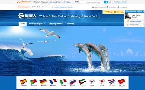 Screenshot of Home Page golden-fortune.net.cn - Wuhan Golden Fortune Technology & Trade Co., Ltd. - Calcium Hypochlorite,Trichlorisocyanuric Acid - captured Oct. 6, 2014