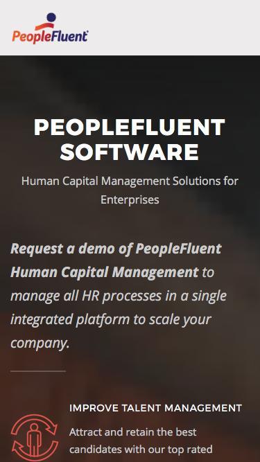 Human Capital Management (HCM) Demo | PeopleFluent Software