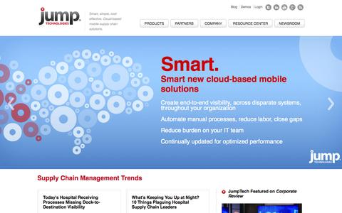 Screenshot of Home Page jumptech.com - Jump Technologies | Supply Chain Management Solutions - captured Aug. 5, 2015