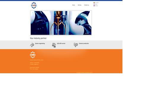 Screenshot of Home Page oee.lt - LITMILL - - captured Oct. 7, 2014