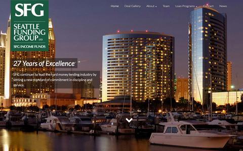 Screenshot of Home Page seattlefundinggroup.com - Seattle Funding Group - Leading Private Money Portfolio Lender - captured Jan. 29, 2015