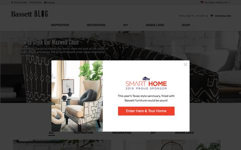 Screenshot of Blog bassettfurniture.com - Bassett Furniture                          » Blog - captured Aug. 16, 2019