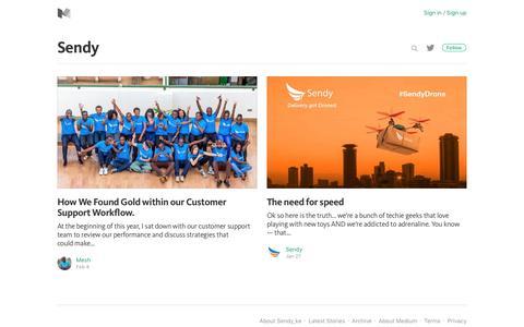 Screenshot of Blog medium.com - Sendy_ke – Medium - captured March 13, 2017