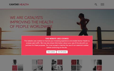 Screenshot of About Page kantarhealth.com - About Us   Kantar Health - captured March 31, 2019