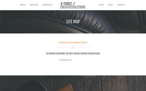 Screenshot of Site Map Page a3creative-solutions.com - Site Map | A3 Creative Solutions - captured Dec. 22, 2015