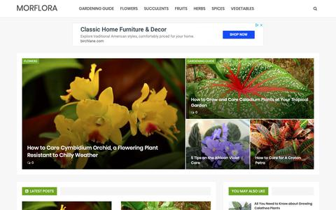 Screenshot of Home Page morflora.com - Garden Planting Guide - MORFLORA - captured Dec. 10, 2018