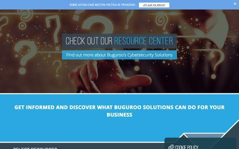 Screenshot of Case Studies Page buguroo.com - Resources - captured Oct. 7, 2018