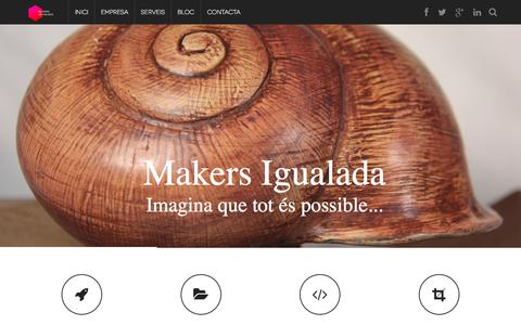 Screenshot of Home Page maig.io - Makers Igualada - Fabricació Digital - Impresores 3D - captured Sept. 16, 2015