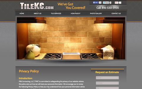 Screenshot of Privacy Page tilekc.com - Privacy Policy | TileKC.com - captured Oct. 5, 2014