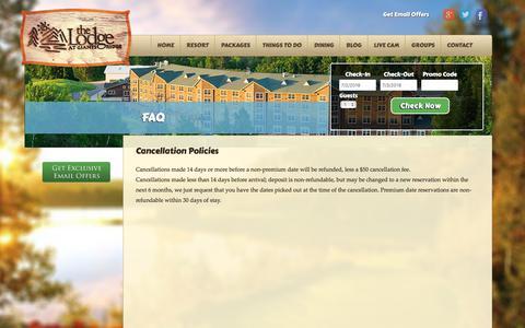 Screenshot of FAQ Page lodgeatgiantsridge.com - FAQ - The Lodge at Giants Ridge - captured July 3, 2018