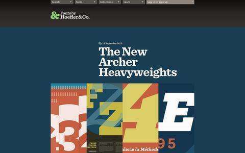 Screenshot of Press Page typography.com - News, Notes & Observations   Hoefler & Co. - captured Oct. 22, 2015
